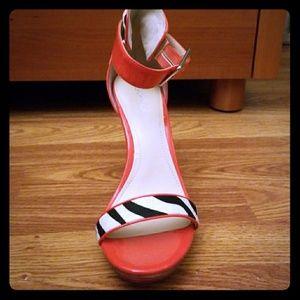 Calvin Klein zebra print heels